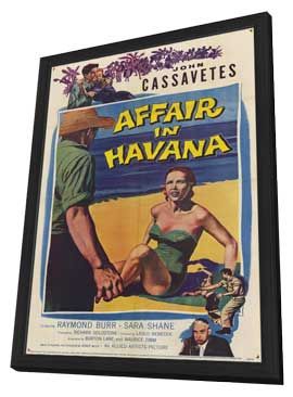 Affair in Havana - 11 x 17 Movie Poster - Style A - in Deluxe Wood Frame