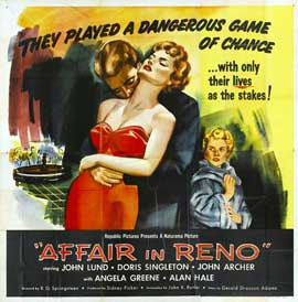Affair in Reno - 11 x 14 Movie Poster - Style A
