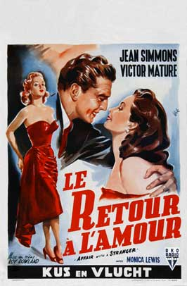 Affair With a Stranger - 27 x 40 Movie Poster - Belgian Style A