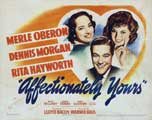 Affectionately Yours - 11 x 14 Movie Poster - Style A