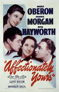 Affectionately Yours - 22 x 28 Movie Poster - Half Sheet Style A