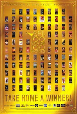 AFI - 100 Years of Movies - 27 x 40 Movie Poster - Style A