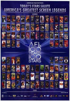 AFI - 100 Years of Stars - 11 x 17 Movie Poster - Style A