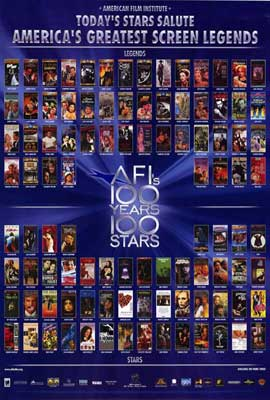 AFI - 100 Years of Stars - 27 x 40 Movie Poster - Style A