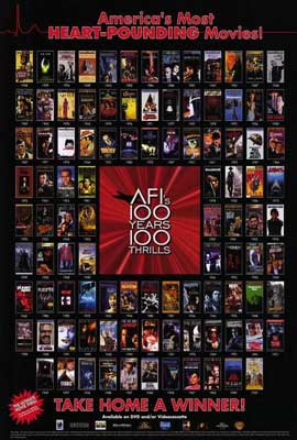 AFI - 100 Years of Thrills - 27 x 40 Movie Poster - Style A