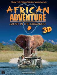 African Adventure: Safari in the Okavango - 43 x 62 Movie Poster - Bus Shelter Style A