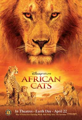 African Cats: Kingdom of Courage - 43 x 62 Movie Poster - Bus Shelter Style A