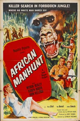 African Manhunt - 11 x 17 Movie Poster - Style A