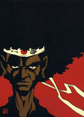 Afro Samurai - 11 x 17 Movie Poster - Japanese Style B
