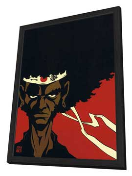 Afro Samurai - 27 x 40 Movie Poster - Japanese Style B - in Deluxe Wood Frame