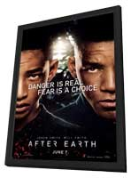 After Earth - 11 x 17 Movie Poster - Style A - in Deluxe Wood Frame