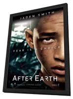 After Earth - 11 x 17 Movie Poster - Style C - in Deluxe Wood Frame