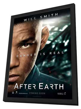 After Earth - 11 x 17 Movie Poster - Style D - in Deluxe Wood Frame