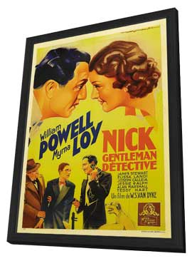 After the Thin Man - 27 x 40 Movie Poster - Style C - in Deluxe Wood Frame