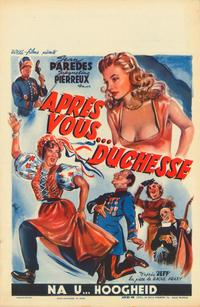 After You Duchess - 27 x 40 Movie Poster - Belgian Style A