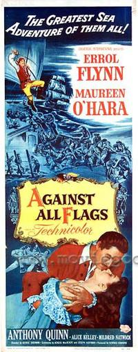 Against All Flags - 14 x 36 Movie Poster - Insert Style A