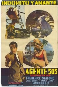 Agent 505: Death Trap Beirut - 11 x 17 Movie Poster - Spanish Style A