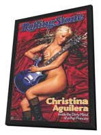 Christina Aguilera - 11 x 17 Music Poster - Style B - in Deluxe Wood Frame
