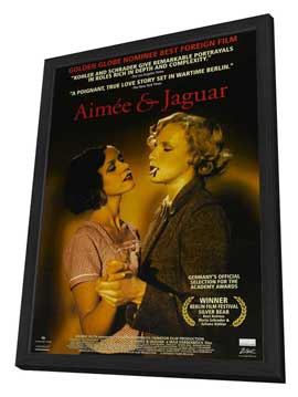 Aimee and Jaguar - 27 x 40 Movie Poster - Style A - in Deluxe Wood Frame