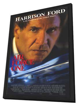 Air Force One - 27 x 40 Movie Poster - Style A - in Deluxe Wood Frame