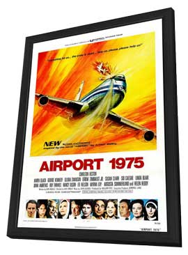 Airport 1975 - 11 x 17 Movie Poster - Style A - in Deluxe Wood Frame