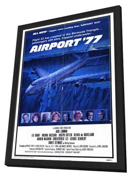 Airport '77 - 11 x 17 Movie Poster - Style A - in Deluxe Wood Frame