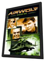 Airwolf - 27 x 40 Movie Poster - Style A - in Deluxe Wood Frame