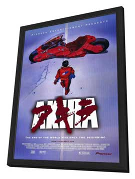 Akira - 11 x 17 Movie Poster - Style B - in Deluxe Wood Frame