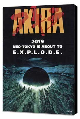 Akira - 11 x 17 Movie Poster - Style E - Museum Wrapped Canvas