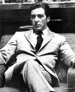 Al Pacino - Al Pacino sitting on a Chair, Cross Legs Pose in Formal Outfit Black and White