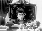 Al Pacino - Al Pacino Siting on Chair Black and White Portrait
