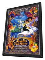 Aladdin and The King of Thieves - 11 x 17 Movie Poster - Style A - in Deluxe Wood Frame