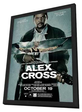 Alex Cross - 11 x 17 Movie Poster - Style B - in Deluxe Wood Frame