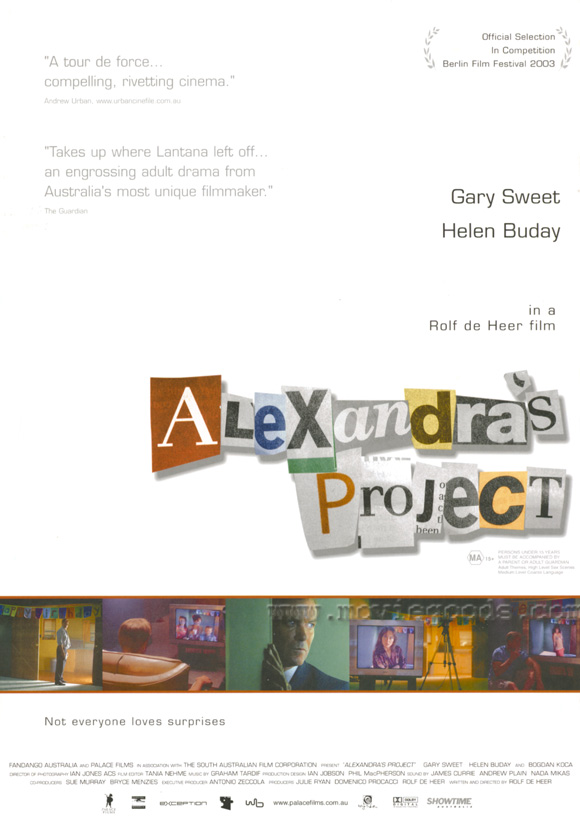 alexandras project Read the alexandra's project plot and find out who is in the cast and crew at moviescom.