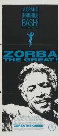 Alexis Zorbas - 11 x 17 Movie Poster - Australian Style A