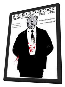 Alfred Hitchcock Film Festival - 27 x 40 Movie Poster - Style A - in Deluxe Wood Frame