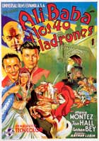 Ali Baba and the Forty Thieves - 11 x 17 Movie Poster - Spanish Style D