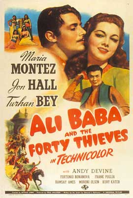 Ali Baba and the Forty Thieves - 11 x 17 Movie Poster - Style B