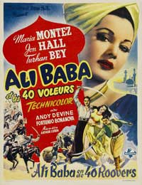 Ali Baba and the Forty Thieves - 27 x 40 Movie Poster - Belgian Style A
