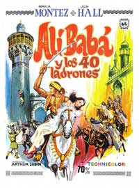 Ali Baba and the Forty Thieves - 11 x 17 Movie Poster - Spanish Style B