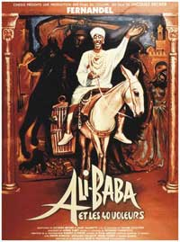 Ali Baba and the Forty Thieves - 11 x 17 Movie Poster - French Style A