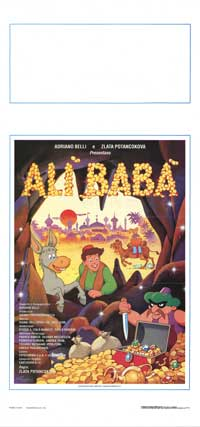 Ali Baba - 13 x 28 Movie Poster - Italian Style A
