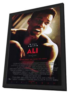 Ali - 11 x 17 Movie Poster - Style A - in Deluxe Wood Frame
