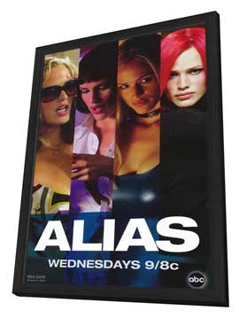 Alias (TV) - 11 x 17 TV Poster - Style E - in Deluxe Wood Frame