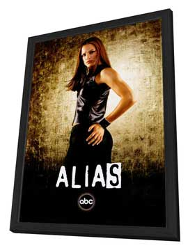 Alias (TV) - 27 x 40 TV Poster - Style C - in Deluxe Wood Frame