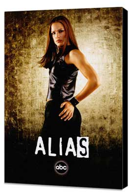 Alias (TV) - 27 x 40 TV Poster - Style C - Museum Wrapped Canvas