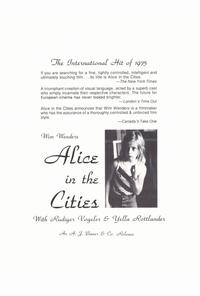 Alice in the Cities - 27 x 40 Movie Poster - Style A