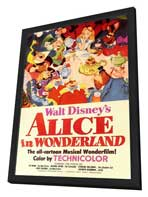 Alice in Wonderland - 11 x 17 Movie Poster - Style A - in Deluxe Wood Frame