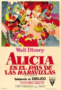Alice in Wonderland - 43 x 62 Movie Poster - Bus Shelter Style B