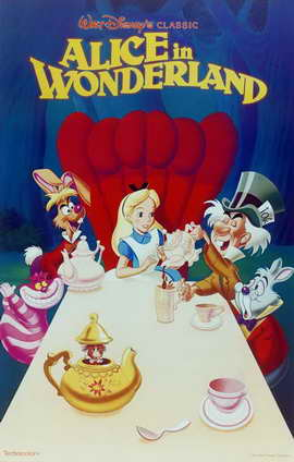 Alice in Wonderland - 11 x 17 Movie Poster - Style E